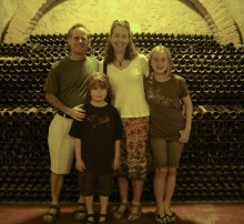In the cellar of a bodega near Mendoza, November 2009.