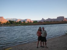 The beach on the Colorado River where we camped.
