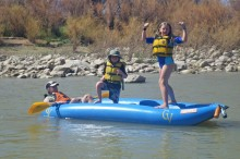 Day Two: Morgan and the kids on the Colorado River near Moab.