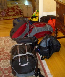 All the stuff we're taking. (It includes extra stuff for the dog and Colorado. We'll lighten the load when we go abroad.)
