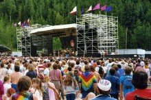 Morgan's snapshot of The Grateful Dead playing Telluride Town Park in 1987.