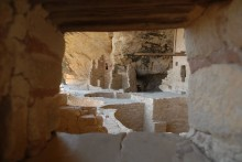 Looking through a window in time in Mesa Verde's Balcony House.