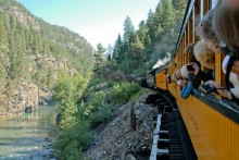 The Durango & Silverton Narrow Gauge Railroad hasn't changed much since the Victorian era, though now it carries tourists instead of ore.