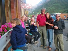 Life is sweet on Telluride's main street! Here our family -- including my parents, brother, and sister-in-law -- eats ice cream from The Sweet Life on Colorado Ave.