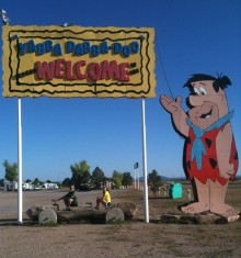 We met the Flintstones and had a yaba-daba-do-dah time.