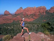 Pausing to welcome the new day on the Munds Wagon Trail in Sedona.