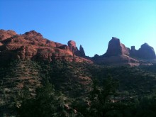 Sedona at sunrise on one of our early-morning runs.