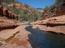 A series of natural pools makes up Slide Rock State Park near Sedona.