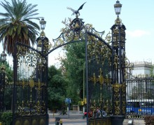 The gothic gates to Mendoza's Parque San Martin.