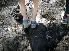 Picture of mud on the steep climb up Cerro Bayo