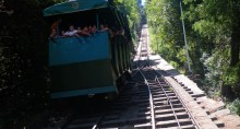 The 1925 tram to the top of the park is called the Funicular. It is fun! (-icular!)