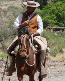The gaucho Orlando, whose horse had a type of hand-crafted bridle and saddle I'd never seen before.