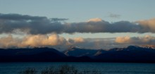 Lago Nahuel Huapi, in the Andes foothills near Bariloche, as seen from our cabaña.