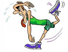 Tired runner cartoon