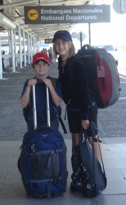 Kyle and Colly with their luggage at the Santiago airport. (I'm so glad they can carry all their own things!)