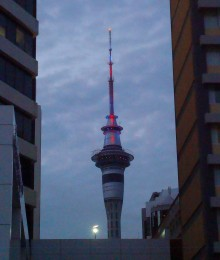Auckland's version of the Space Needle is called the Sky Tower.