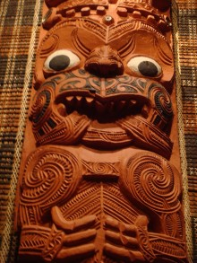 Where the Wild Things Are: A closeup of a Maori figure at the Auckland Museum. (Notice the resemblance to Sendak's creatrures?)