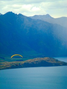 There's always someone floating overhead in the sky above Queenstown.