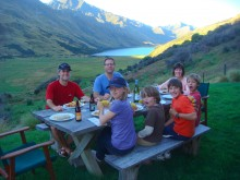 With our friends The Kirkpatricks, we had dinner and spent a night near Moke Lake on Closeburn Station.
