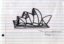 My favorite picture of the Sydney Opera House, courtesy of Colly.