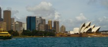 Morgan's view of the Sydney Opera House during a recent ferry ride.