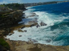 The surf on along the walk from Coogee to Bondi.
