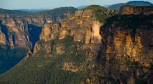 It's the cliff faces and canyon more than the moutaintops that give the Blue Mountains their beauty.
