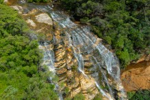 Wentworth Falls is a splayed-out, multi-level cascade that's among the prettiest falls we've ever seen.