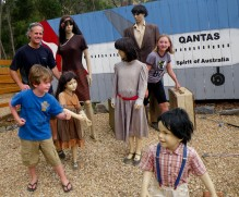 The Australian-themed mini golf even featured a family flying on Qantas. We fit right in!